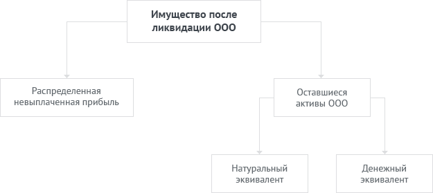 Распределение имущества после ликвидации ООО